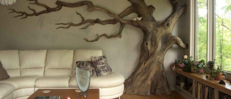 Дерево как декоративный элемент